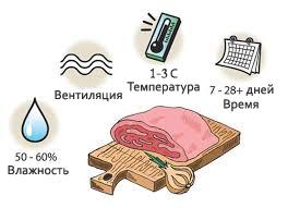 шкафы для созревания мяса, сыра, колбасы